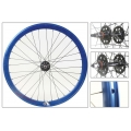 "Fixie Rear Wheel 700"" High Profile Blue Anonized Origin 8"