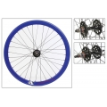 "Fixie Rear Wheel 700"" High Profile Blue Origin 8 (32 spokes)"