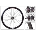 "Fixie Rear Wheel 700"" Origin 8 Black lighter-sealed hub (32 spokes)"