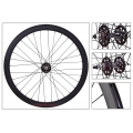 "Fixie Rear Wheel 700"" Origin 8 Black Matt lighter-sealed hub (32 spokes)"