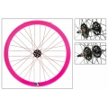 "Fixie Rear Wheel 700"" High Profile Pink Origin 8 (32 spokes)"