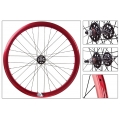 "Fixie Rear Wheel 700"" High Profile Red Anonized Origin 8"