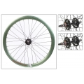 "Fixie Rear Wheel 700"" High Profile Green Anonized Origin 8"