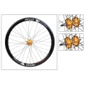 "Fixie Rear Wheel 700"" Origin 8 Track Attak Black Gold (32 spokes)"