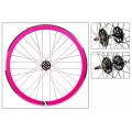 "Fixie Front Wheel 700"" Origin 8 Pink With High Profile"