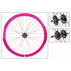 "Fixie Front Wheel 700"" Origin 8 Pink lighter-sealed hub"