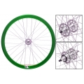 "Fixie Rear Wheel 700"" Profile Green Anonized Origin 8"