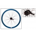 "Fixie Rear Wheel 700"" Origin 8 With Coaster Brake Hub KT2 Blue Anodized"