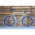 Fixie Bike White Blue Bulhorn