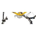 Aluminum Roof Bike carrier mounting without front wheel Rolle