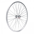 "Rear Wheel MTB 24"" Silver Aluminium Thread QR9mm"