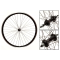 "Road Rear Wheel 700"" DP18 Aluminum 6/7s freewheel Black with braking sidewall"