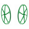 "Wheelset Sticks Fixie 700"" Green Blue Flip - Flop"