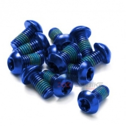 Pack 12 Tornillos Disco Freno Reverse M5x10mm Azul
