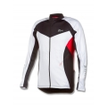 Long Sleeve Maillot Rogelli Ranco White Black Red