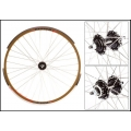 "Fixie Wheel 700"" Weinmann Front Manuka Brown Disc Mount"