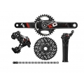 Group Full Sram X01 GripShift Red (BB30 / GXP)