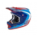 Casco Integral Troy Lee Designs D3 Mirage Azul Rojo