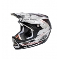 Casco Integral Troy Lee Designs D3 Palmer Negro Plata