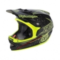 Casco Integral Troy Lee Designs D3 Carbono Pinstripe Amarillo