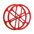 fixie-single speed 700c aluminium Red rear wheel