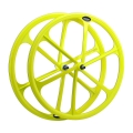 fixie-single speed 700c aluminium Yellow front wheel