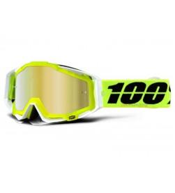 Máscara 100% RACECRAFT Solar (Lente Espejo Dorada)