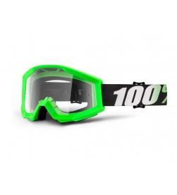 Máscara 100% Strata Arkon (Lente Transparente) Verde Fluorescente