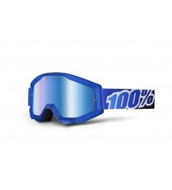 Máscara 100% Strata Blue Lagoon Azul lente espejo azul