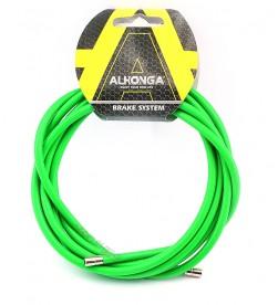 Funda Freno Cable Acero Laminado Verde 2m