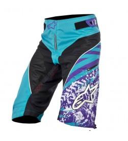 Pantalon Corto Alpinestars Gravity Negro- Azul / Violeta