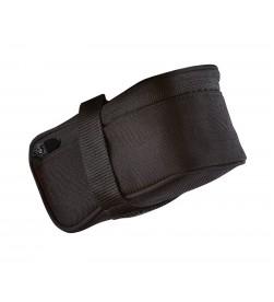 Bolsa bajo sillin pequena negra velcro cremallera 12.5x7.5x5.5 cms