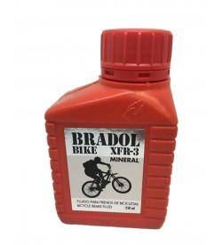 Liquido frenos hidraulico bicicletas aceite mineral Bradol XFR-3 250ml