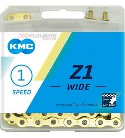 Cadena 1 velocidad KMC Z1 con eslabón Dorada