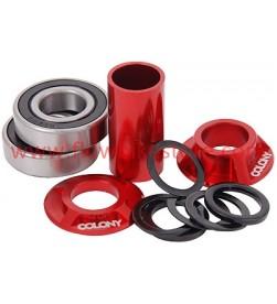Cazoletas + Rodamientos Pedalier COLONY BMX Colores MIDD22