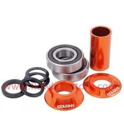 Cazoletas + Rodamientos Pedalier COLONY BMX Colores MIDD19