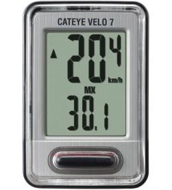 Cuentakilómetros Cateye Velo 7 negro