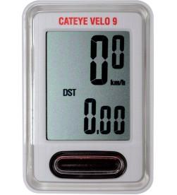 Cuentakilómetros Cateye Velo 9 Blanco