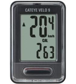Cuentakilómetros Cateye Velo 9 Negro