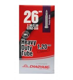 Cámara Chaoyang Heavy Duty Tube 26x2.30/2.50 1.2mm FV