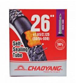 Cámara Chaoyang con Liquido Antipinchazos 26x1.75/2.125 FV v.fina