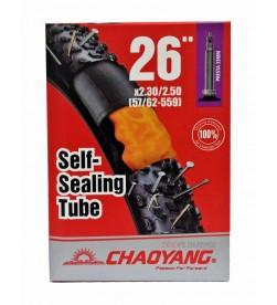 Cámara Chaoyang con Liquido Antipinchazos 26x2.30/2.50 FV