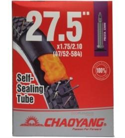 Cámara Chaoyang con Liquido Antipinchazos 27.5x1.75/2.10 AV/Schrader/v.auto