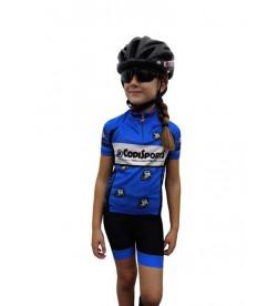 Conjunto maillot+culotte niño-niña Codi Sports Azul