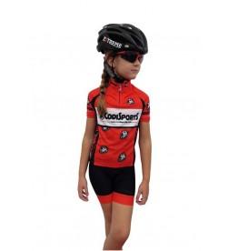 Conjunto maillot+culotte niño-niña Codi Sports Rojo