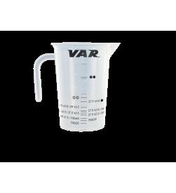 Vaso de Precipitados VAR  graduado para medir la cantidad de líquido Tubeless  (500ml)