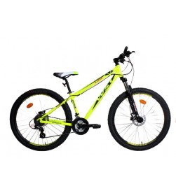 "Bicicleta WST Quake 27.5"" Amarillo fluor (Frenos Disco Hidráulicos)"
