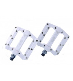 Pedales Plataforma El Gallo Components Fixation Nylon Blanco