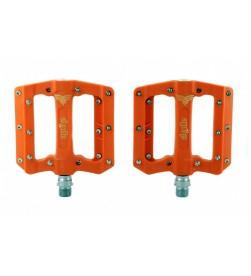 Pedales Plataforma El Gallo Components Fixation Nylon Naranja