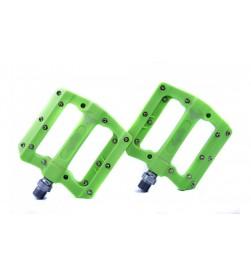 Pedales Plataforma El Gallo Components Fixation Nylon Verde